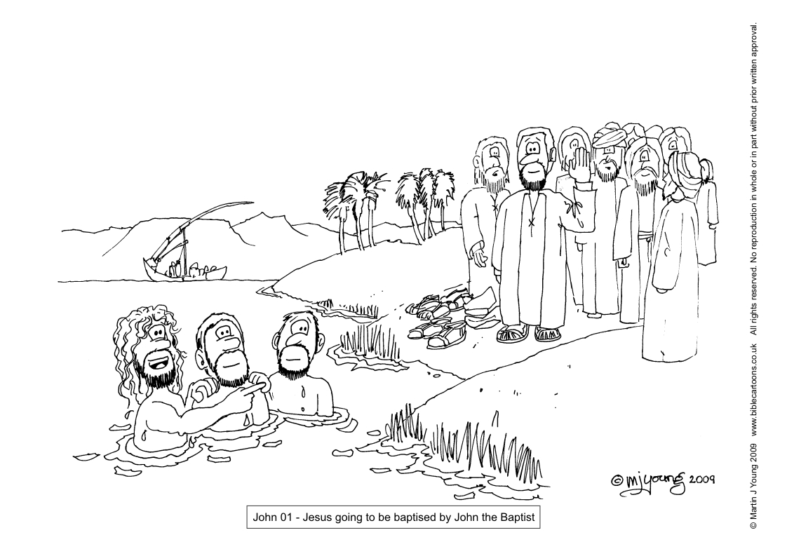 Free coloring pages john the baptist - File John 01 Jesus John The Baptist Jpg 300 42kb Category Colouring Sheets
