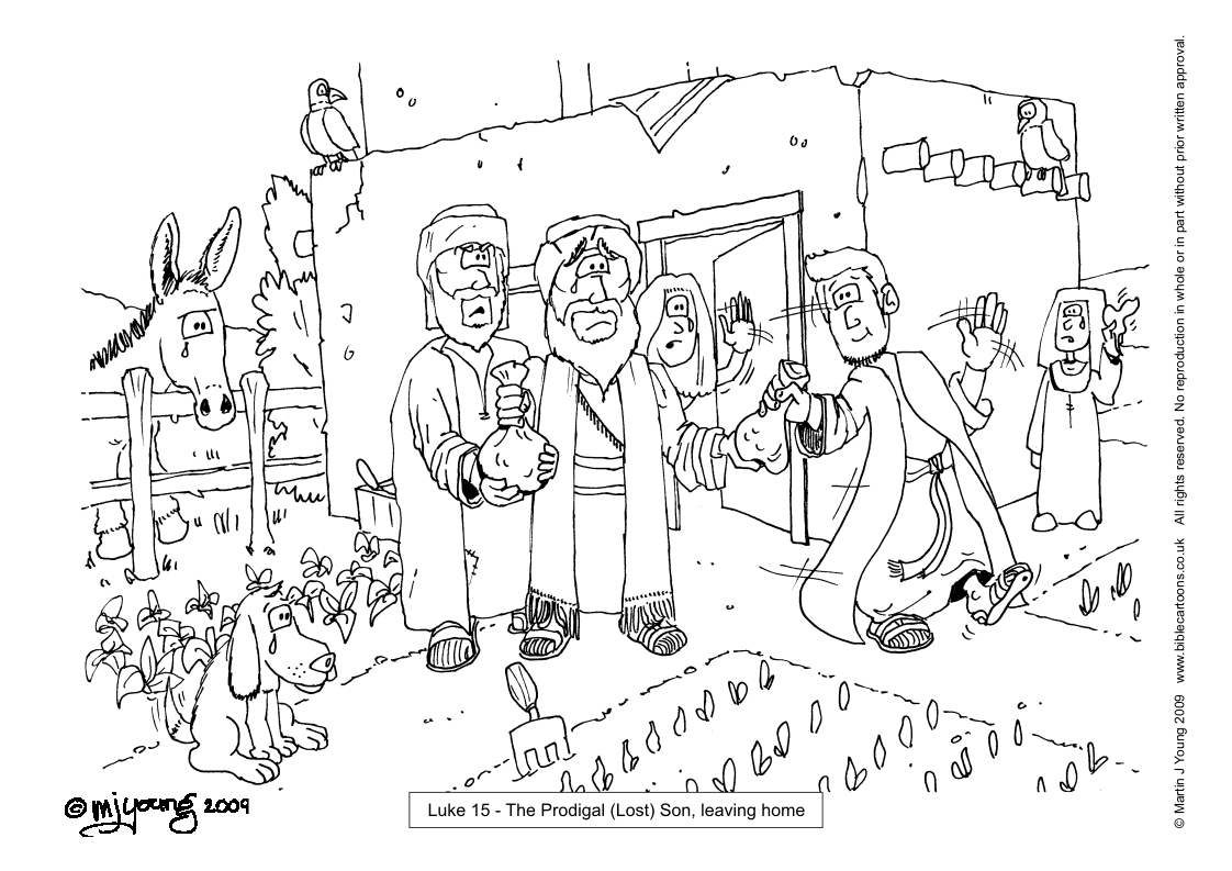 Bible Coloring Pages Prodigal Son