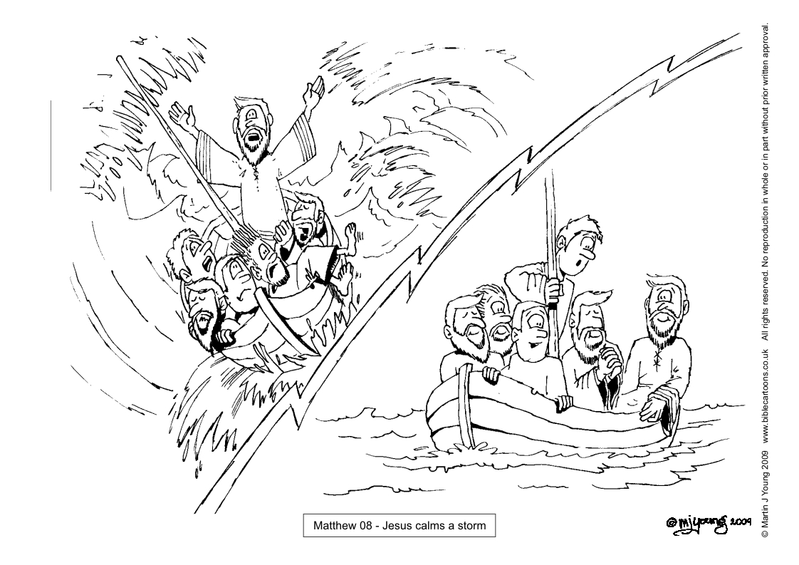 Bible Cartoons Colouring sheets