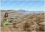 Genesis 21 - Hagar and Ishmael sent away - Scene 04 - Well revealed 980x706px col