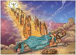 Genesis 28 - Jacob's dream at Bethel - Scene 02 - Stairway 980x706px col