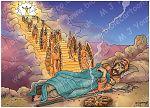 Genesis 28 - Jacob's dream at Bethel - Scene 02 - Stairway 980x706px col