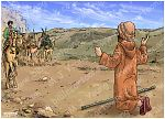 Genesis 33 - Jacob and Esau make peace - Scene 01 - Thunderous approach 980x706px col