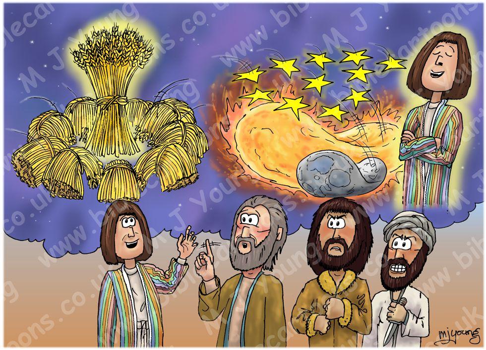 Genesis 37 - Joseph's Dreams - Scene 03 - Dream images 980x706px col
