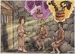 Genesis 40 - Joseph in prison - Scene 04 - Two dreams 980x706px col