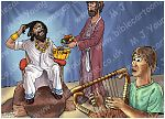 1 Samuel 16 - David serves in Saul's court - Scene 03 - David plays  980x706px col