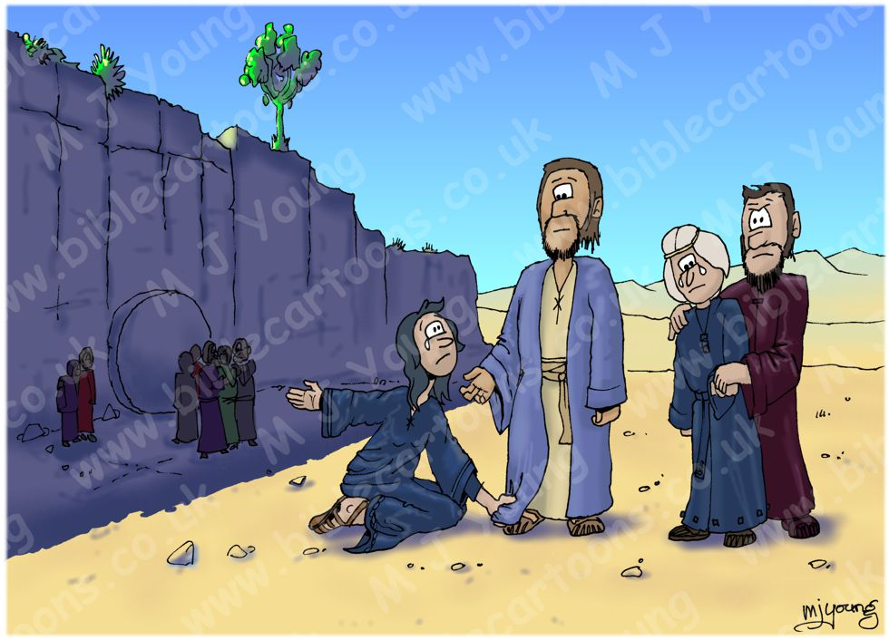 John 11 - Death of Lazarus - Scene 09 - Troubled in spirit (Version 01) 980x706px col