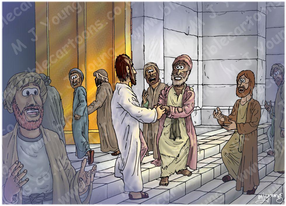 Acts 03 - Crippled beggar healed - Scene 03 - Healing 980x706px col