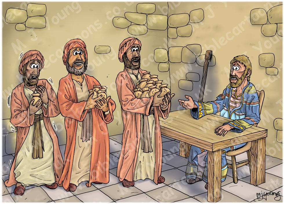 Matthew 25 - Parable of the talents - Scene 04 - Well done 980x706px col