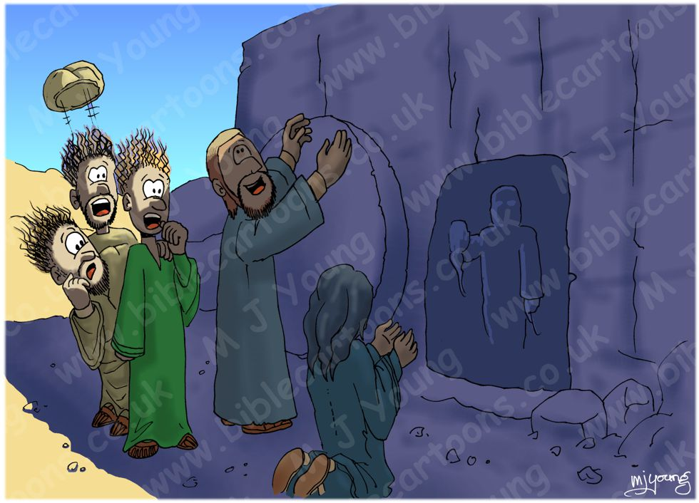 John 11 - Lazarus resurrected - Scene 04 - Lazarus raised (Version 01) 980x706px col