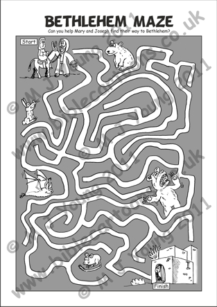 NATIVITY ACTIVITY BOOK 1 maze page