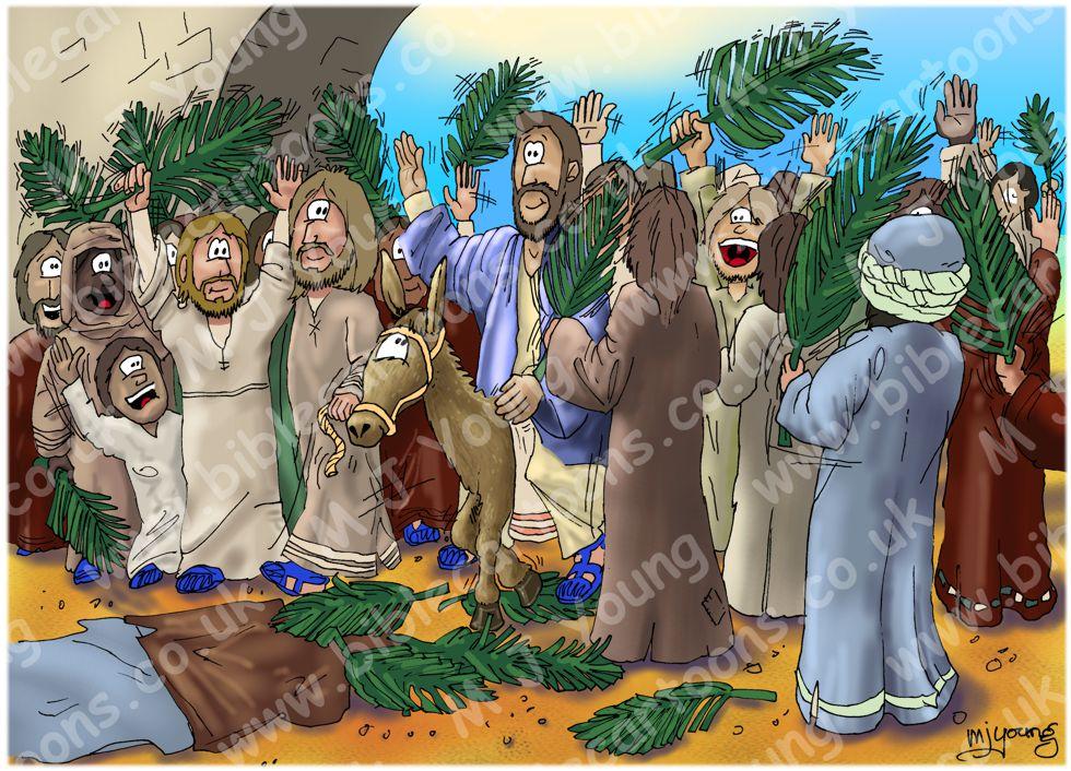 John 12 - Jesus triumphal entry 980x706px col