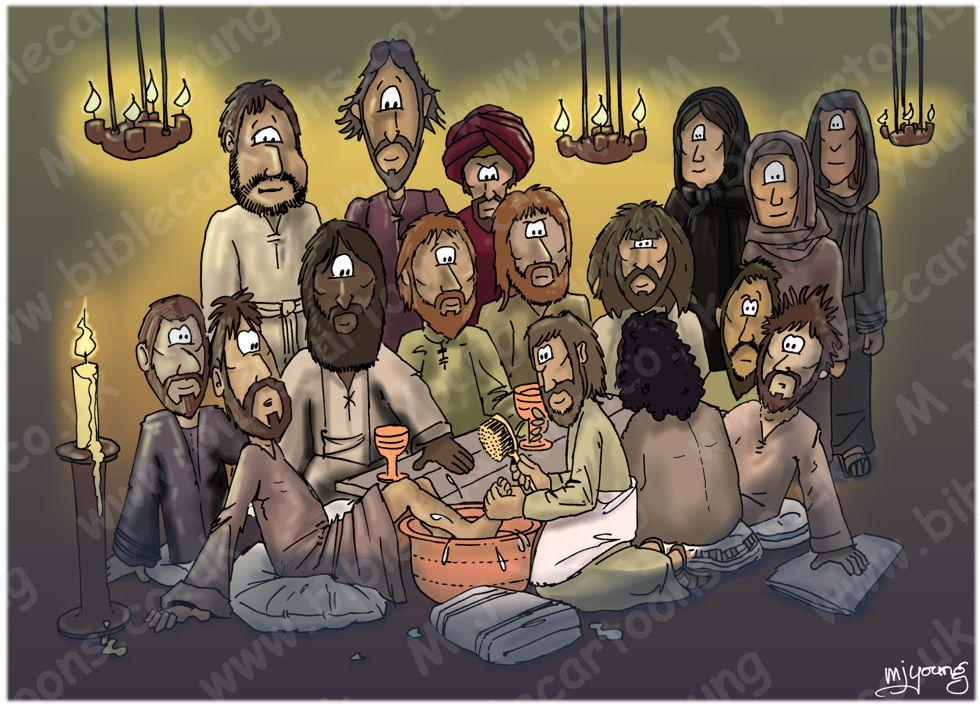 John 13 - Jesus washes his disciple's feet 980x706px col