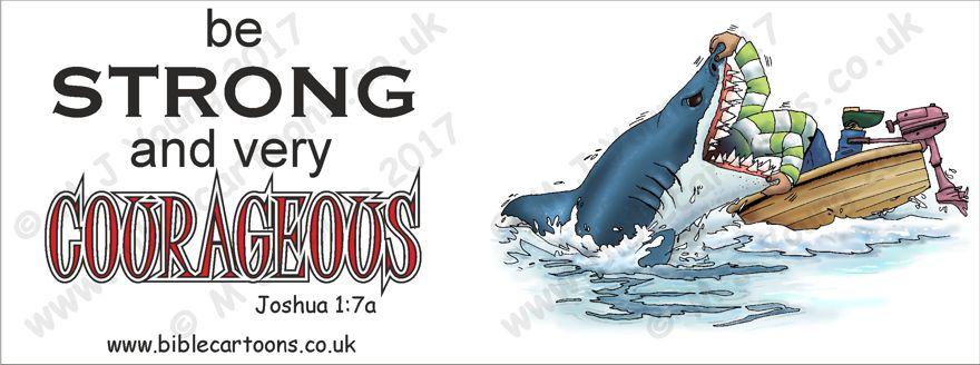 Courageous Shark - Mug watermarked