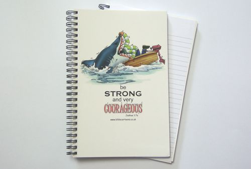 Courageous Shark A5 Notebook