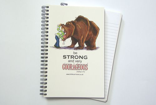 Courageous Bear A5 Notebook