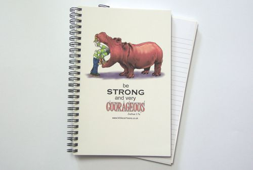 Courageous Hippo A5 Notebook
