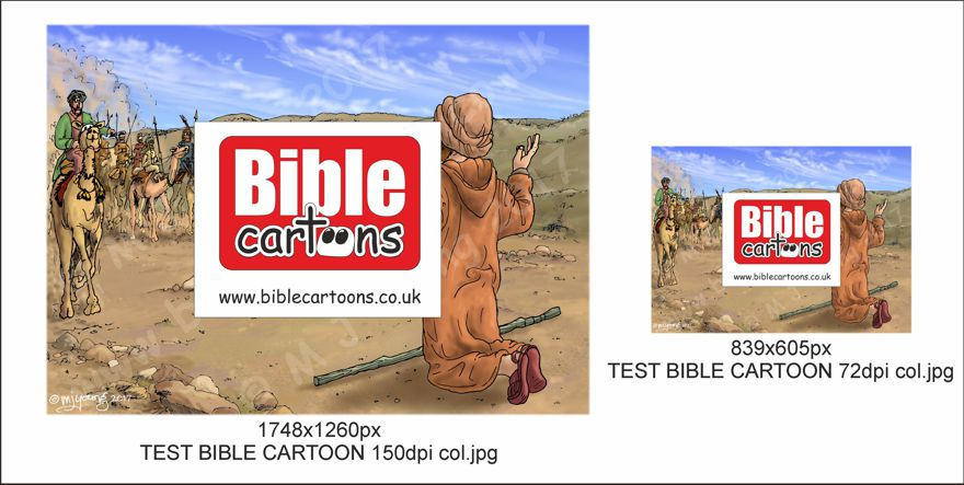 TEST BIBLE CARTOON