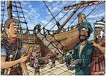 Acts 27 - Paul sails for Rome - Scene 01 - Centurion Julius 980x706px col