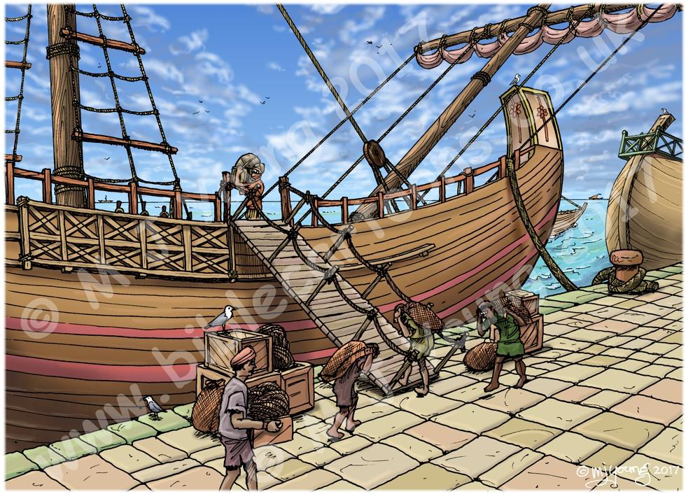 Acts 27 - Paul sails for Rome - Scene 01 - Centurion Julius Landscape 980x706px co