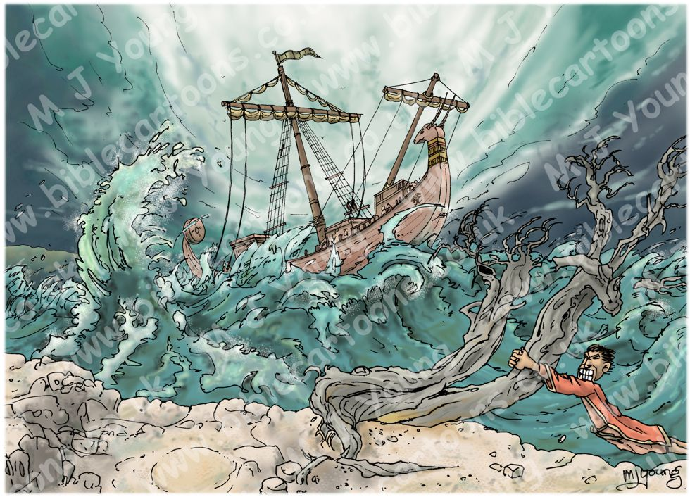 Acts 27 - Sea storm - Scene 02 - Hurricane 980x706px col