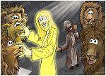 Daniel 06 - The lions' den - Scene 12 - Angel intervention 980x706px col