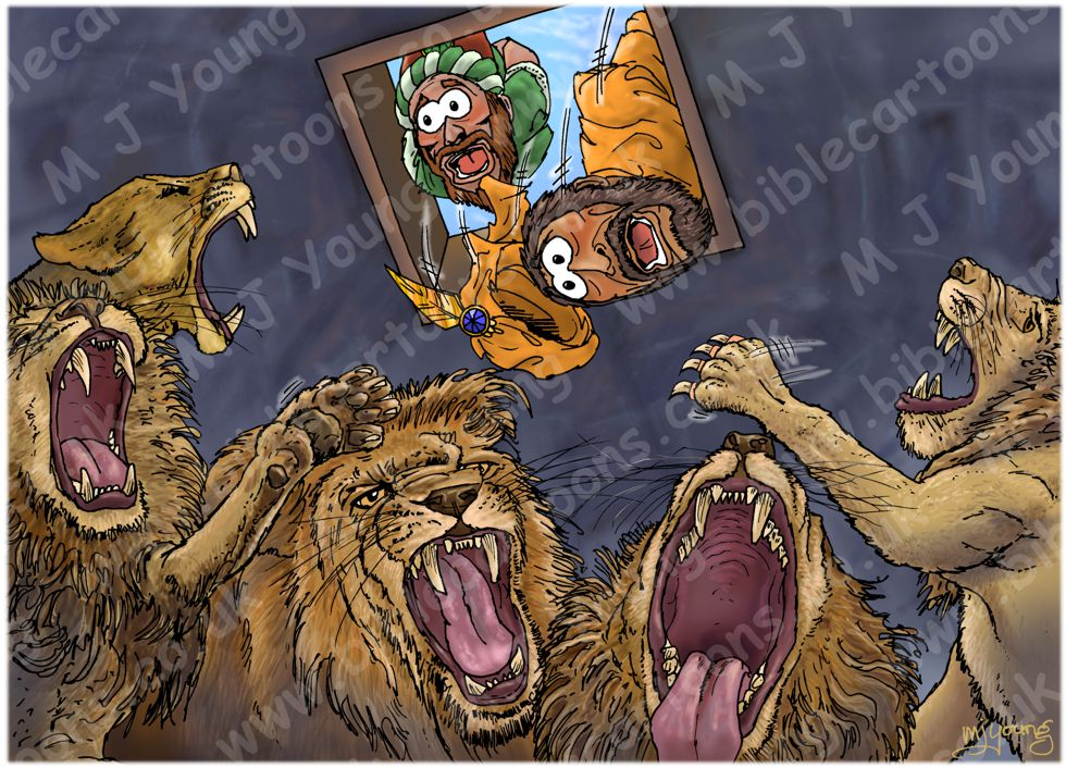 Daniel 06 - The lions' den - Scene 14 - Royal revenge 980x706px col