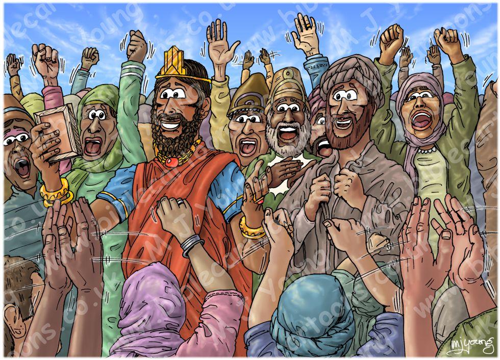 Daniel 06 - The lions' den - Scene 15 - Praise the Lord (Colour version) 980x706px col