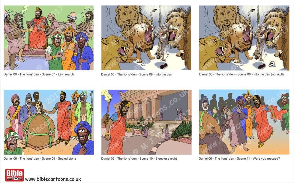 Daniel in lions' den Scene 07-11 SIMPLE
