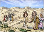 Genesis 37 - Joseph's Dreams - Scene 01 - Joseph reports his brothers 980x706px col