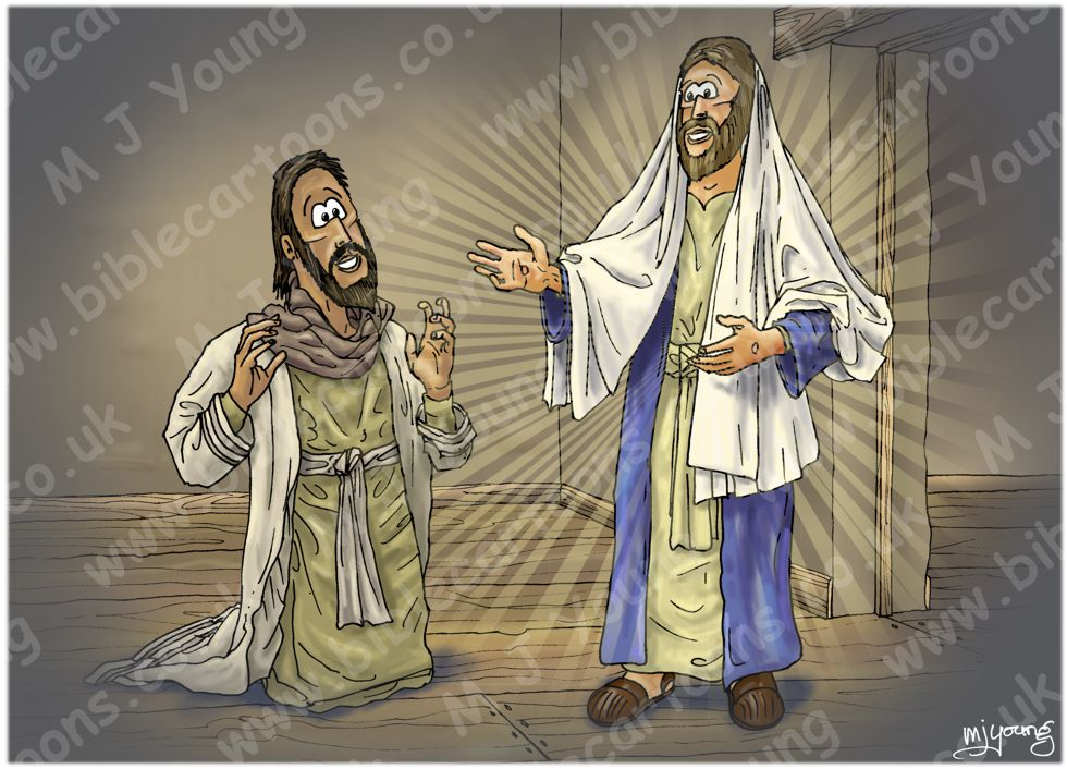 John 20 - Jesus appears to Thomas - Scene 02 - Thomas believes (Version 01) 980x706px col