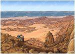 Exodus 02 - Moses flees to Midian - Scene 02 - Trek through Sinia 980x706px col