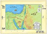 Map of Sinai showing Moses' route from Egypt to land of Midian