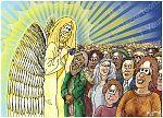 Revelation 07 - 144,000 sealed - Scene 02 - Angel with God's seal 980x706px col