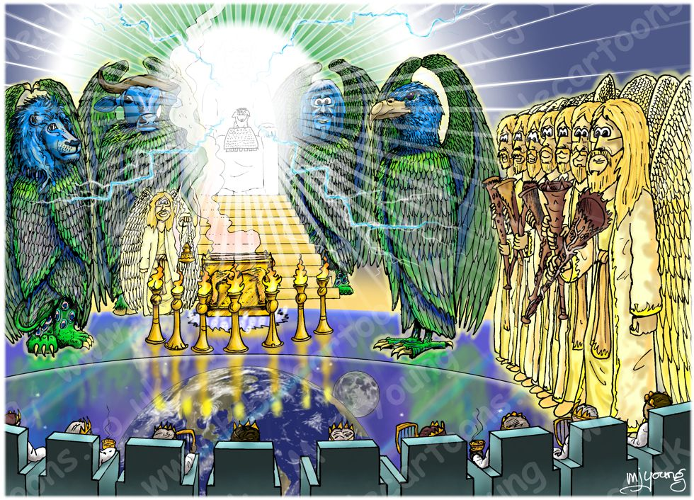 Revelation 08 - Seventh seal - Scene 02 - Angel with golden censer 980x706px col