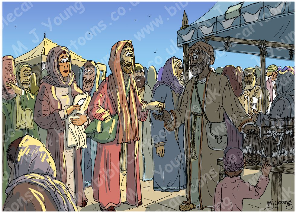 Luke 02 - Prophecies about Jesus - Scene 02 - Buying sacrifice 980x706px col ROUGH.jpg