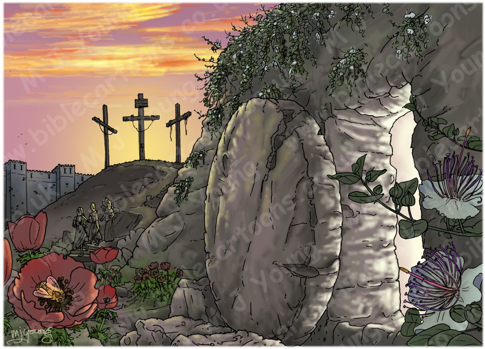 John 20 - The Resurrection - Scene 01 - Stone removed (Version 02) 980x706px col