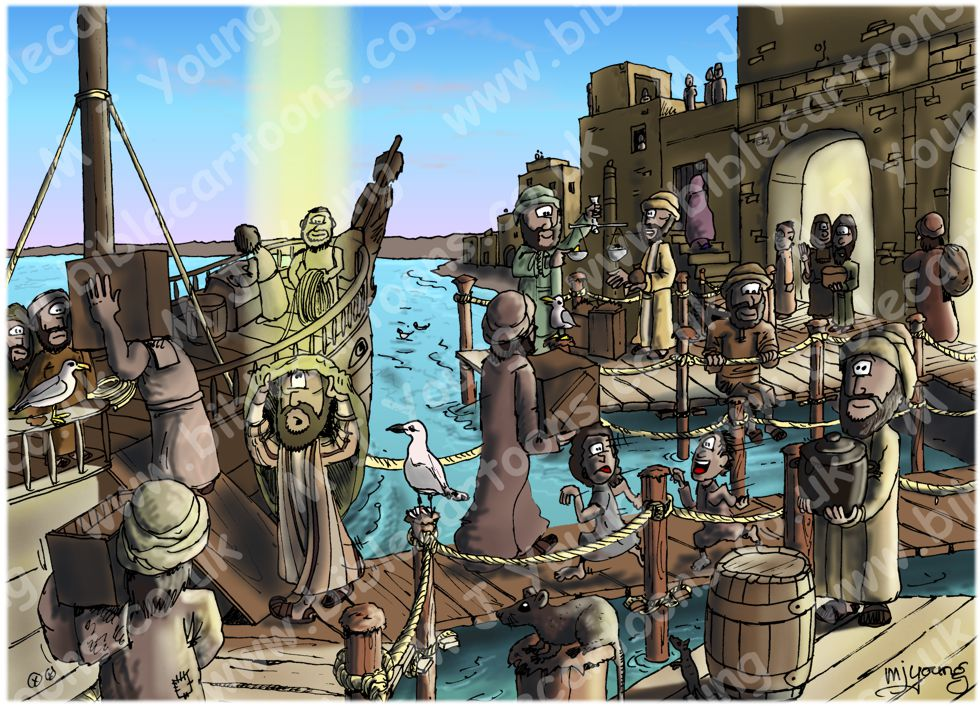 Jonah 01 - Scene 02 - Joppa ship