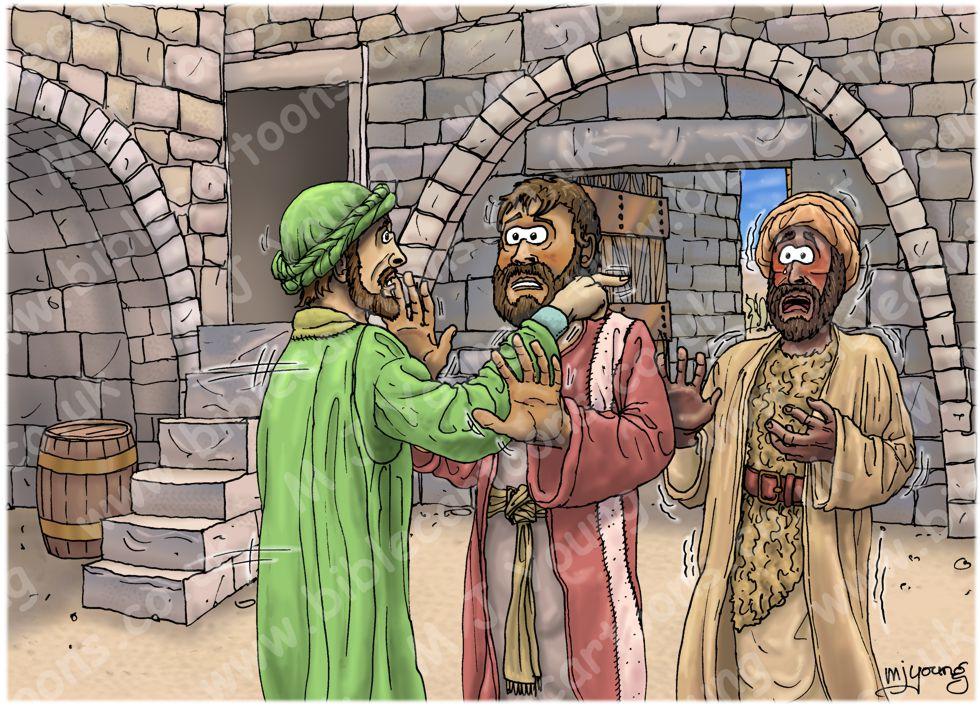 1 Kings 19 - Elijah flees to Horeb - Scene 01 - Jezebel's threat 980x706px col.jpg