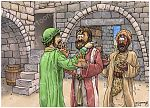 1 Kings 19 - Elijah flees to Horeb - Scene 01 - Jezebel's threat 980x706px col.jpg