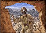 1 Kings 19 - Elijah flees to Horeb - Scene 05 - Into a cave 980x706px col.jpg