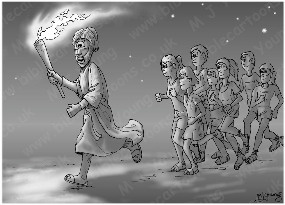 Psalm 119 - Olympic Torch Bearer 980x706px - Greyscale.jpg