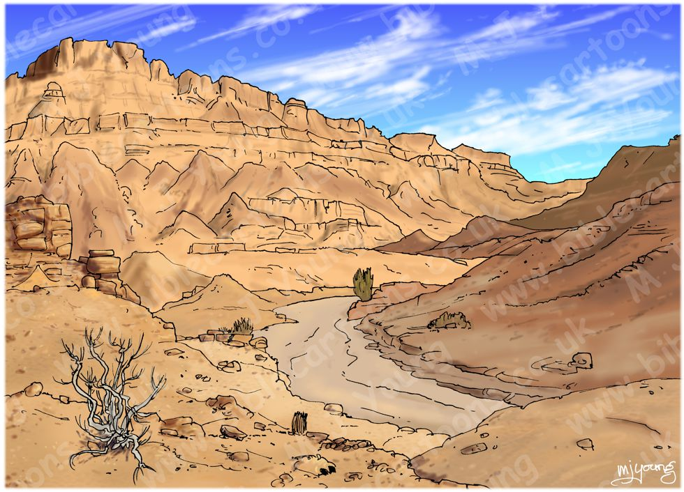 Ezekiel 37 - Valley of bones - Scene 01 - Hillside - Landscape 980x706px col.jpg