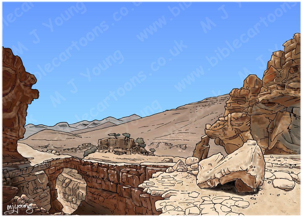 Matthew 04 - The temptation of Jesus - Scene 01 - Wilderness 980x706px - Landscape col.jpg