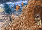 1 Kings 19 - The Lord appears to Elijah at Horeb - Scene 02 - Earthquake 980x706px col.jpg