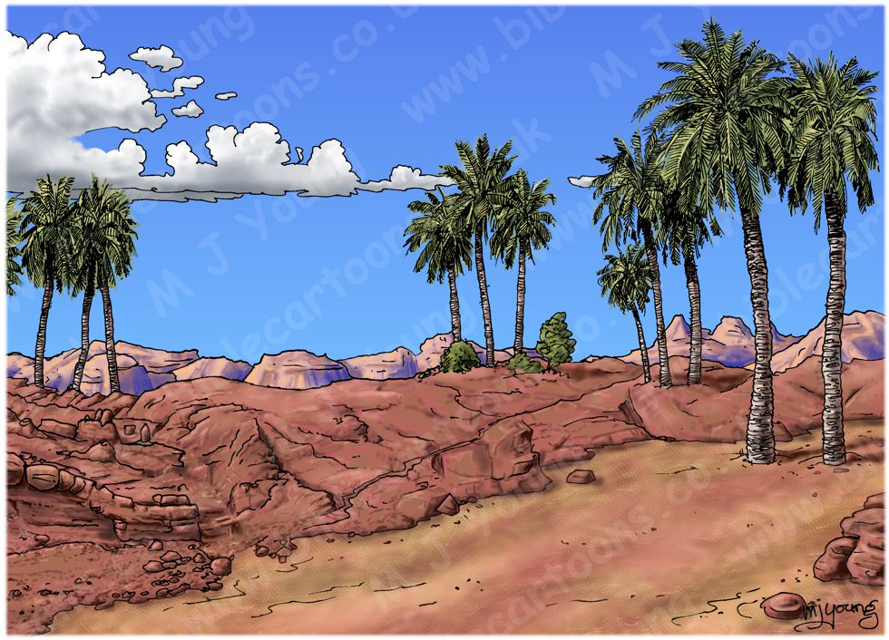 Matthew 07 - Parable of wise and foolish builders - Scene 01 - Digging foundations - Landscape 980x706px col.jpg