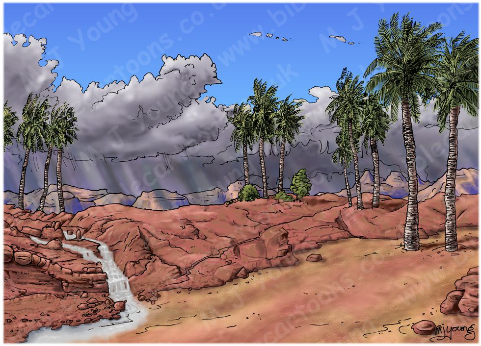 Matthew 07 - Parable of wise and foolish builders - Scene 03 - Foolish man finished - Landscape 980x706px col.jpg