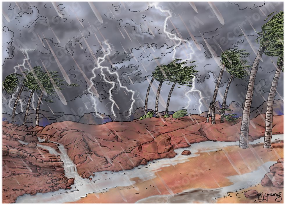 Matthew 07 - Parable of wise and foolish builders - Scene 04 - Storm approaching - Landscape 980x706px col.jpg