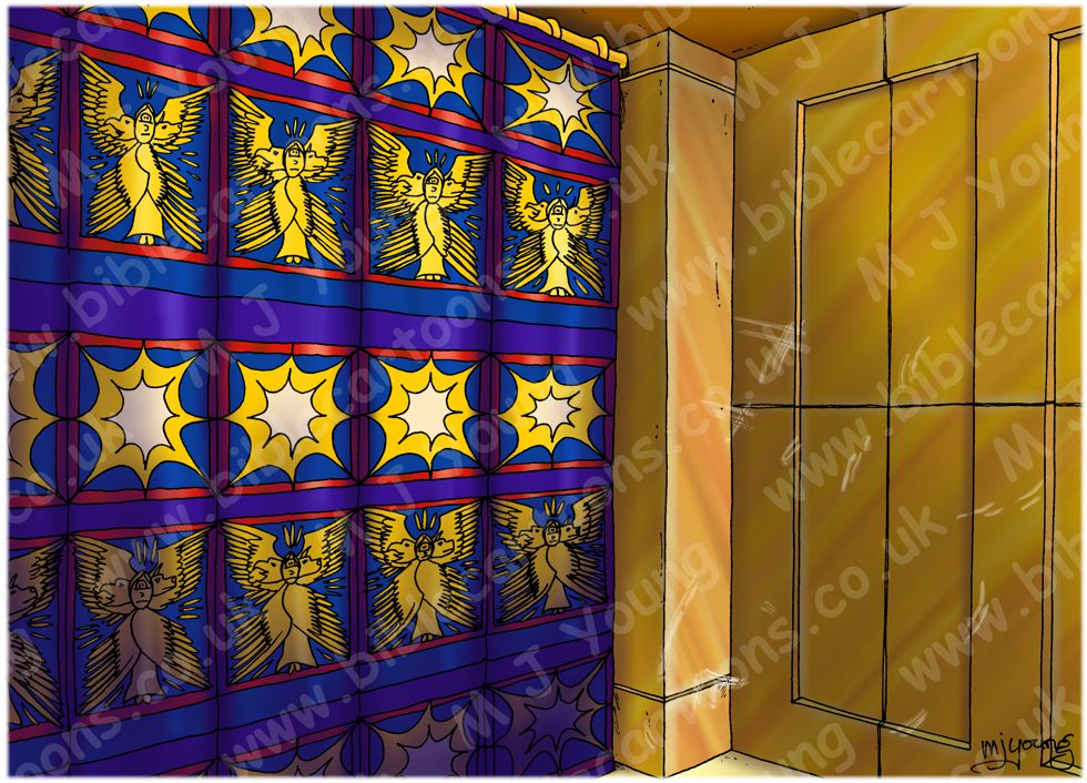 Luke 01 - Births foretold - Scene 04 - Gabriel  - Interior 980x706px col.jpg