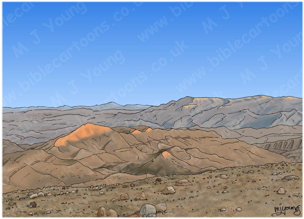 Luke 01 - Births foretold - Scene 14 - John in wilderness - Landscape 980x706px col.jpg